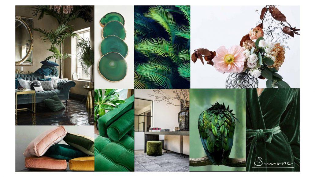Moodboard art deco groen
